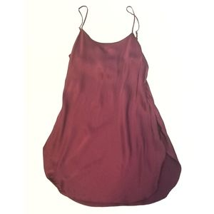 VINTAGE VS 100% SILK Maroon Adjustable Straps Sexy